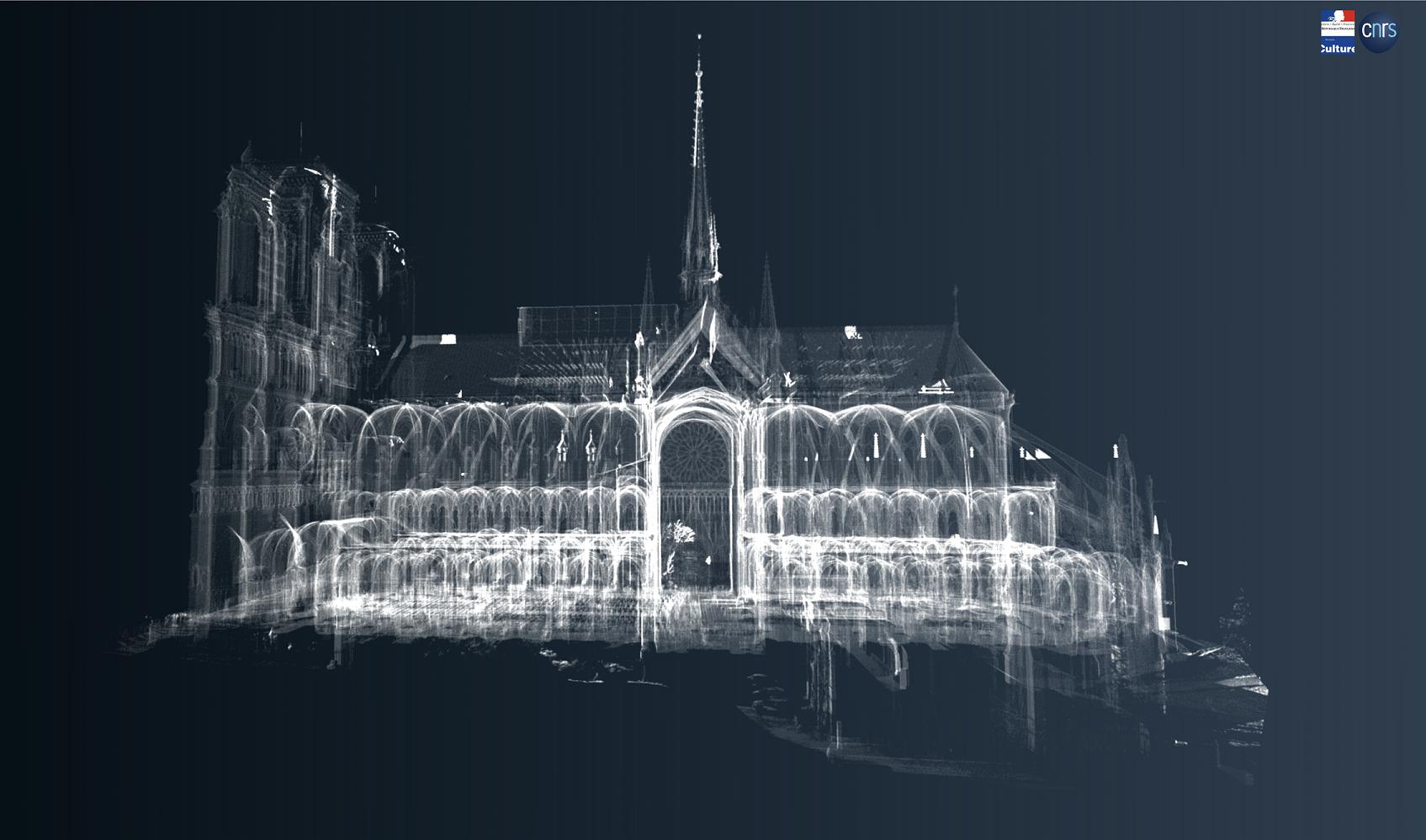Chantier scientifique pour la restauration de Notre-dame de Paris